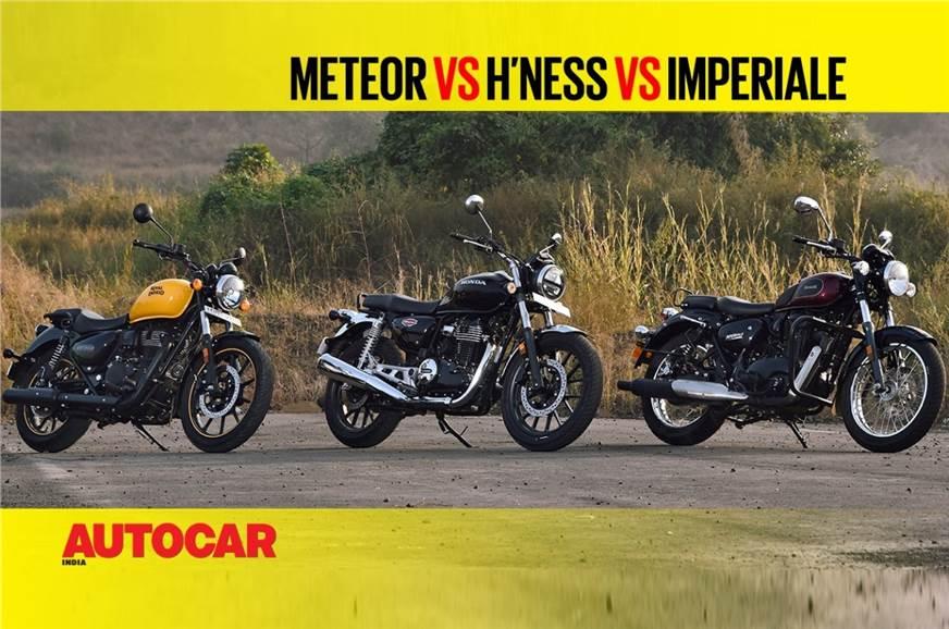 Meteor 350 vs H'ness CB350 vs Imperiale 400 comparison video