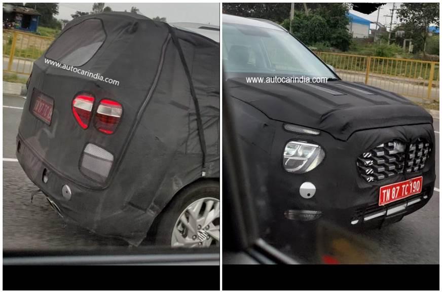 7 seat Hyundai Creta first India spy shots show new details