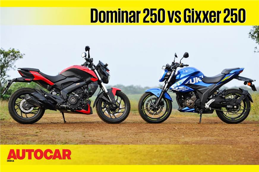 Bajaj Dominar 250 vs Suzuki Gixxer 250 comparison video