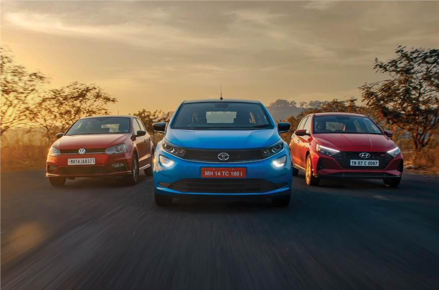 Tata Altroz iTurbo vs Hyundai i20 Turbo vs Volkswagen Polo TSI comparison