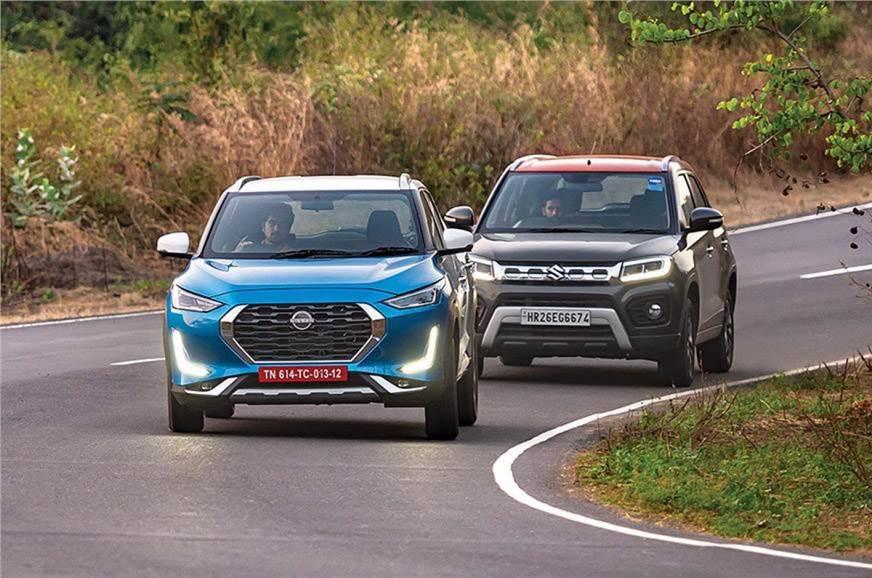 Nissan Magnite vs Maruti Vitara Brezza comparison
