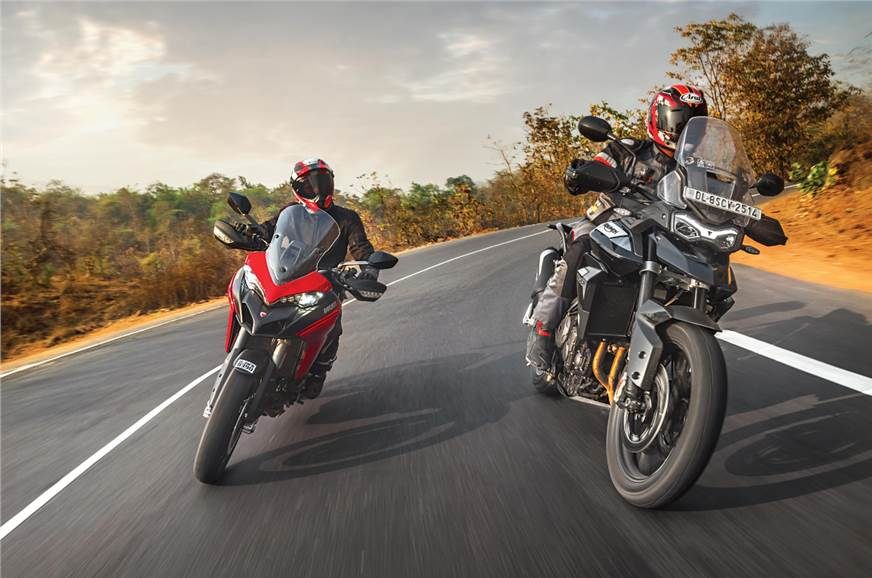 Ducati Multistrada 950 S vs Triumph Tiger 900 GT comparison