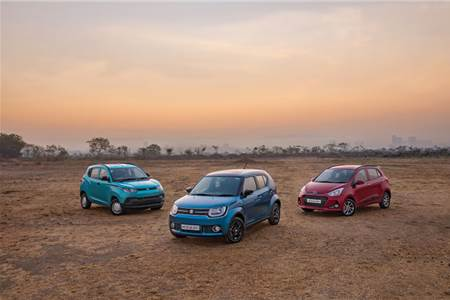 Maruti Ignis vs Grand i10 vs KUV 100 diesel comparison