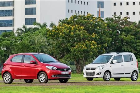Tata Tiago AMT vs Maruti WagonR AMT comparison
