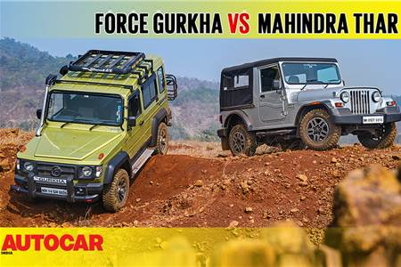 2017 Force Gurkha Explorer vs Mahindra Thar CRDe comparison video