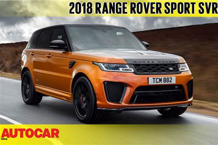 2018 Range Rover Sport SVR video review