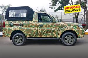 Army-spec Tata Safari Storme soft-top breaks cover