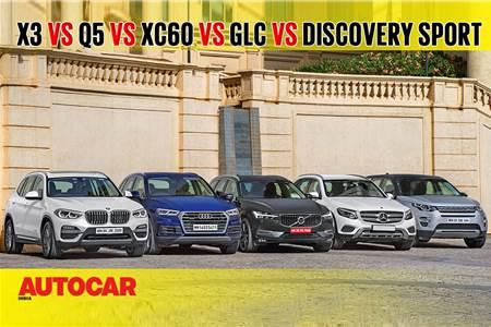 X3 vs Q5 vs XC60 vs GLC vs Discovery Sport comparison video