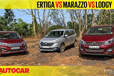 Ertiga vs Marazzo vs Lodgy comparison video