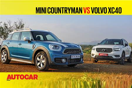 Mini Countryman vs Volvo XC40 comparison video