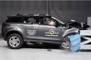 2019 Range Rover Evoque scores 5-star Euro NCAP safety rating