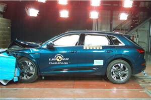 2019 Audi e-tron awarded 5-star Euro NCAP safety rating