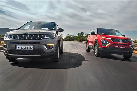 Tata Harrier vs Jeep Compass automatic comparison