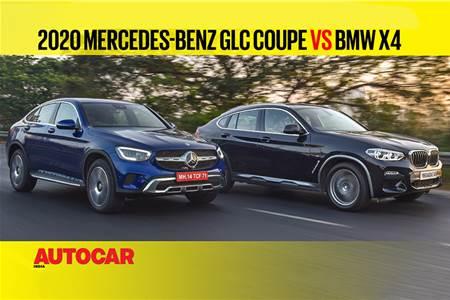 2020 Mercedes-Benz GLC Coupe vs BMW X4 comparison video