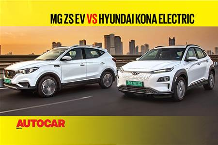MG ZS EV vs Hyundai Kona Electric comparison video