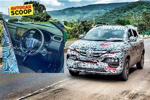 Renault Kiger interior spied for the first time