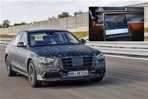 2021 Mercedes-Benz S-class interior partially revealed