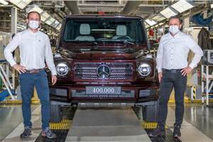 Mercedes-Benz G-class SUV reaches 4 lakh-unit production milestone