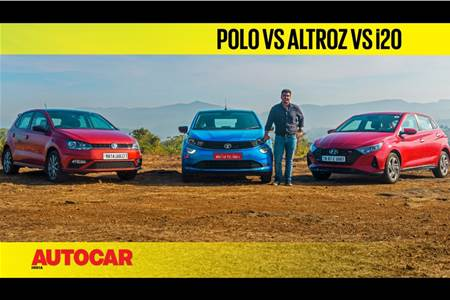 Tata Altroz iTurbo vs Hyundai i20 Turbo vs Volkswagen Polo TSI comparison video
