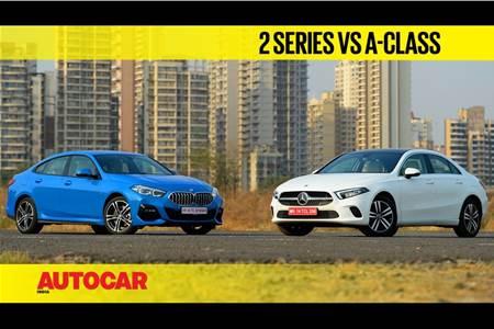 Mercedes-Benz A-class sedan vs BMW 2 Series Gran Coupe comparison video