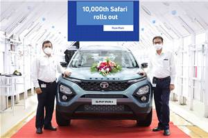 Tata Safari production crosses 10,000 unit milestone