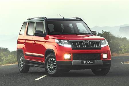 New Mahindra TUV300 facelift image gallery