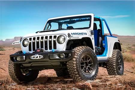 Jeep Wrangler Magneto EV concept image gallery