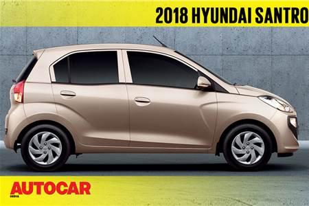 2018 Hyundai Santro first look video