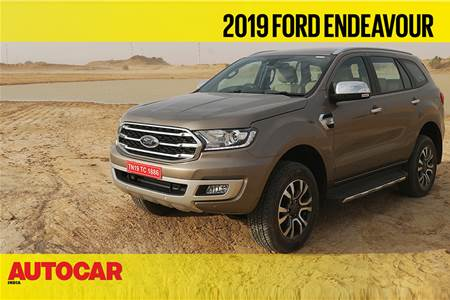 2019 Ford Endeavour facelift first look video
