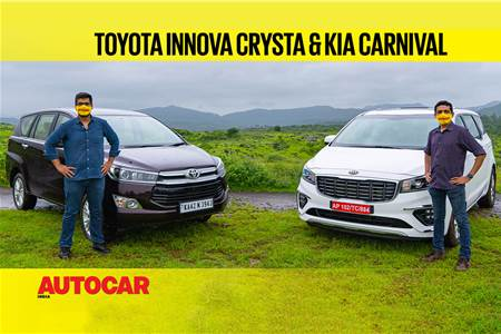 Kia Carnival and Toyota Innova Crysta - What makes a premium MPV