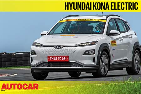HOT LAP: Hyundai Kona Electric Autocar India Track Day 2019 video