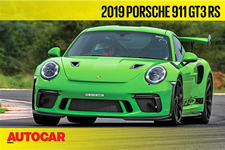 HOT LAP: Porsche 911 GT3 RS Autocar India Track Day 2019 video