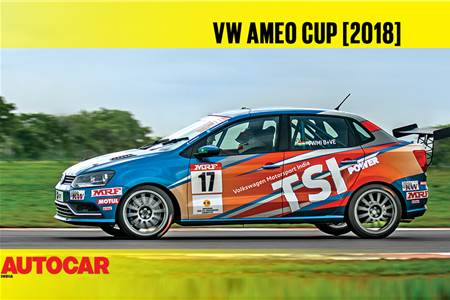 HOT LAP: VW Ameo Cup Autocar India Track Day 2018 video