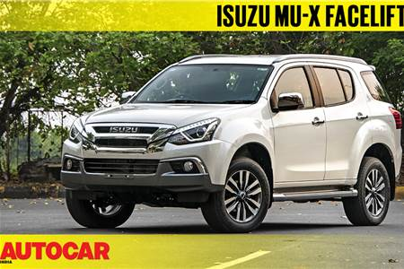 2018 Isuzu MU-X facelift first look video
