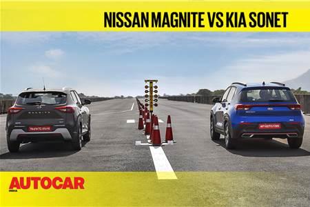 Autocar Drag Day 2021: Kia Sonet DCT vs Nissan Magnite CVT drag race video