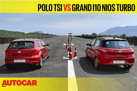 Autocar Drag Day 2021: Volkswagen Polo TSI vs Hyundai Nios Turbo drag race video