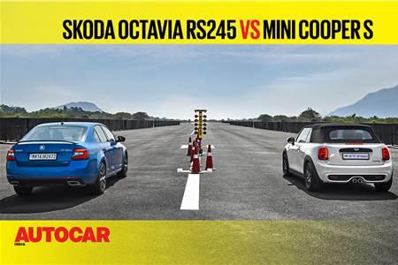 Autocar Drag Day 2021: Skoda Octavia RS245 vs Mini Cooper S drag race video