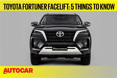 Toyota Fortuner facelift first look video
