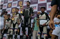 Autocar's Rishaad Mody wins in TVS media race