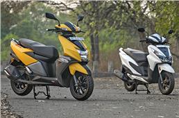 TVS NTorq sells more than Honda's Grazia again in July