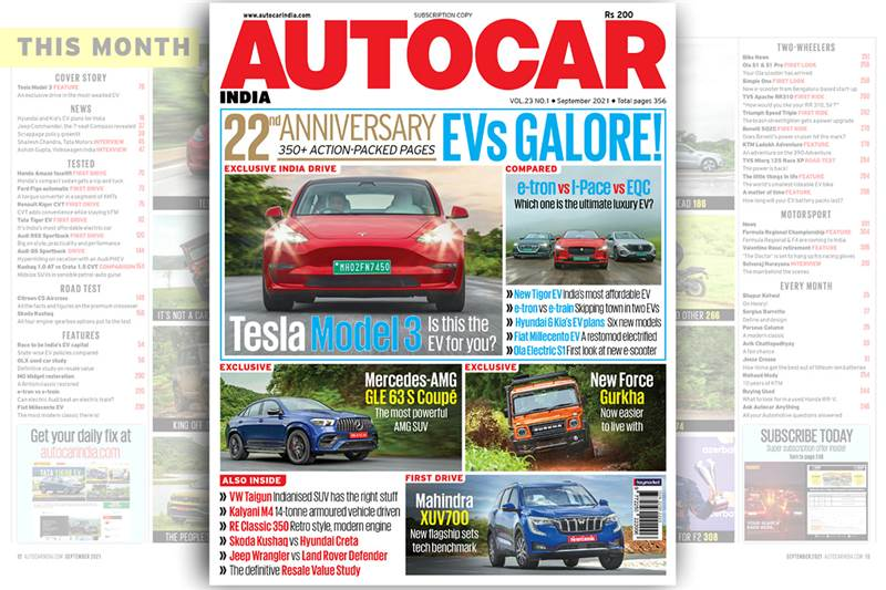 Tesla Model 3 driven in India and much more in our 22nd Anniversary issue
