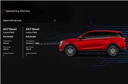 Mahindra XUV700 AWD, diesel MT get Luxury Pack