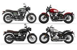 Triumph Gold Line Edition line-up revealed