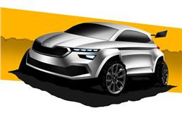 Skoda Kamiq rally concept teased ahead of unveil