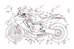 Honda's patent for new superbike shows unique chassis