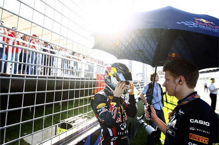There were signs of nerves from Vettel on the grid in Australia, but there need not have been for the polesitter.