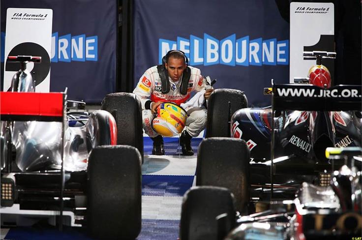 Vettel has had an uncanny ability to preserve his tyres this year. Lewis Hamilton tries to work out how he's done it after the Australian GP.