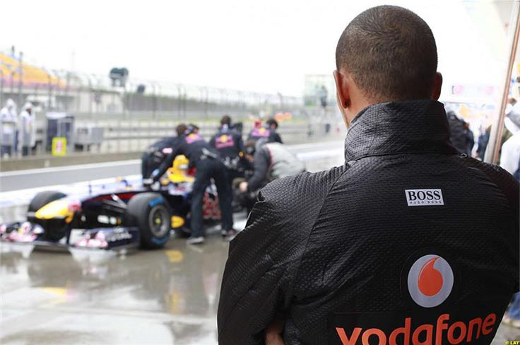 Chinese win notwithstanding, Hamilton starts wishing he had a car as consistently quick as Vettel's Red Bull.