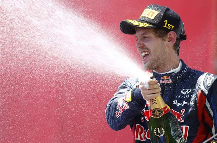 It is a straightforward win at the European Grand Prix, but that doesn't make it any less satisfying when the champagne is introduced.