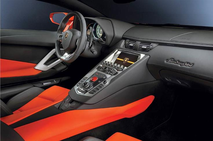 April 2011: 0-100 IN 2.9 SECONDS... - Lamborghini wants to make sure you are aware of the potency of its new 691bhp Aventador. Precisely the reason why the interior of this supercar gives you the impression of being in the cockpit of a jet fighter.